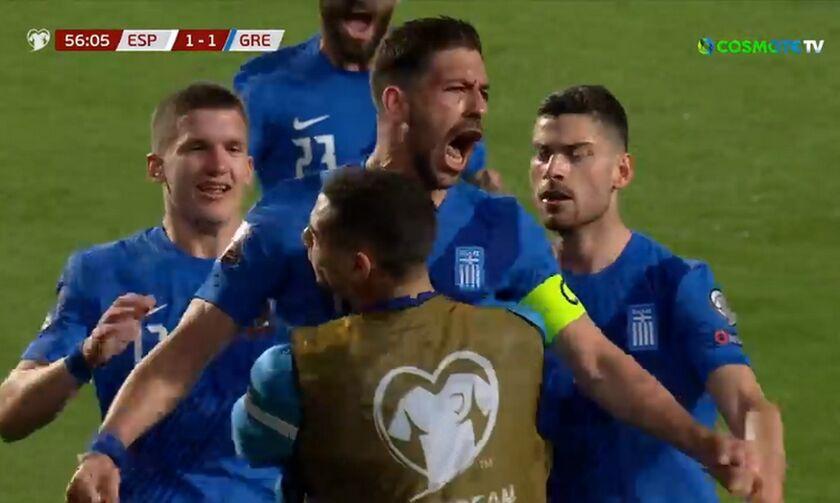 Ισπανία - Ελλάδα: Πέναλτι ο Μασούρας, γκολ ο Μπακασέτας για το 1-1 (vid)