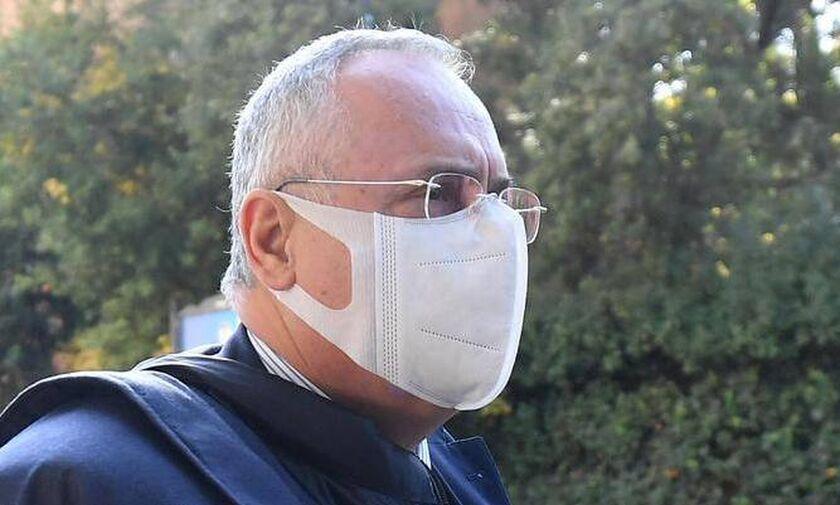Εκτός ποδοσφαίρου για 7 μήνες ο πρόεδρος της Λάτσιο για παραβίαση υγειονομικού πρωτοκόλλου