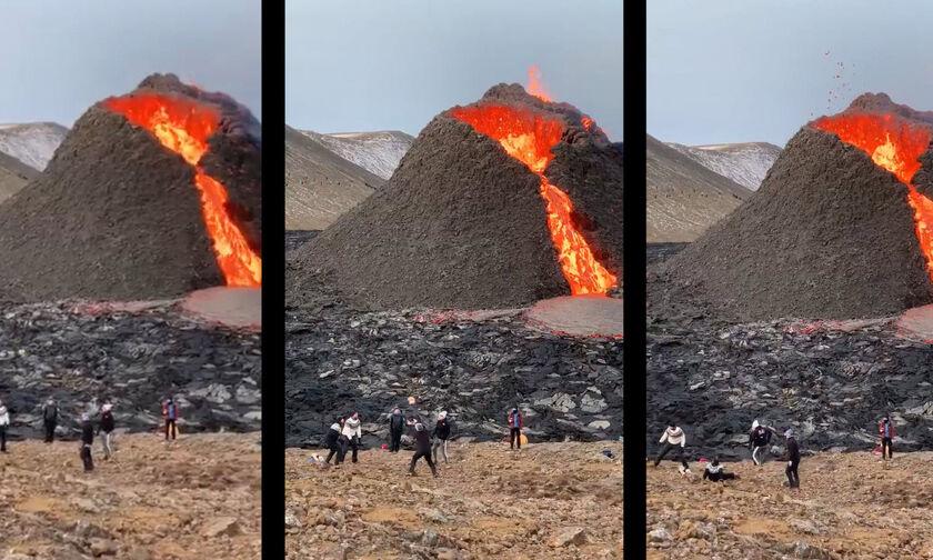 Ισλανδία: Βόλεϊ κοντά σε ηφαίστειο που εκρήγνυται! (vid)