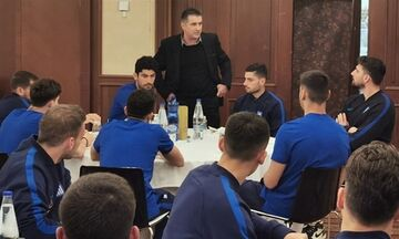 Ο Ζαγοράκης επισκέφθηκε την αποστολή της Εθνικής