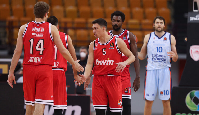 EuroLeague: Στην Βαλένθια ο Ολυμπιακός