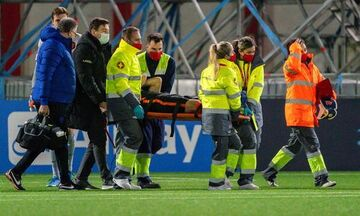Σοβαρός τραυματισμός του Ντάλεϊ Μπλιντ στο ματς της Ολλανδίας με το Γιβραλτάρ