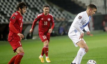 Ελλάδα – Γεωργία: Προβάδισμα (1-0) με απίθανο αυτογκόλ αλλά άμεση απάντηση (1-1) με Κβαρατσκέλια