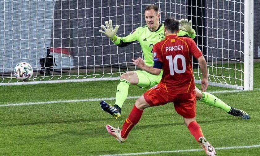 Γερμανία – Βόρεια Μακεδονία: Προβάδισμα (0-1) με τον «γερόλυκο» Πάντεφ (vid)