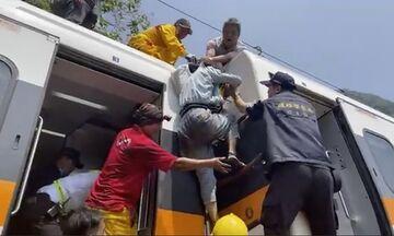 Ταϊβάν: 50 νεκροί μέχρι στιγμής μετά από εκτροχιασμό τρένου (vid)