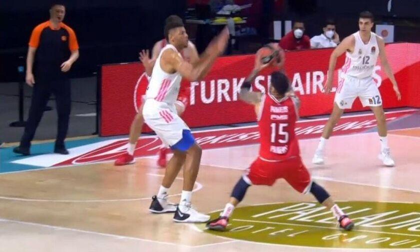Ρεάλ Μαδρίτης- Ολυμπιακός: Ο Πρίντεζης πέτυχε 7 από τους 11 πόντους στο πρώτο 10λεπτο (vid)
