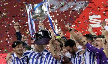 Copa del Rey: Κυπελλούχος 34 χρόνια μετά η Ρεάλ Σοσιεδάδ πήρε (1-0) στον Βασκικό τελικό την Μπιλμπάο