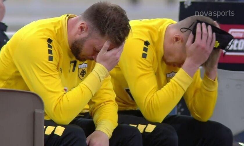ΑΕΚ - Ολυμπιακός 1-5: Η απογοήτευση των παικτών της ΑΕΚ (vid)