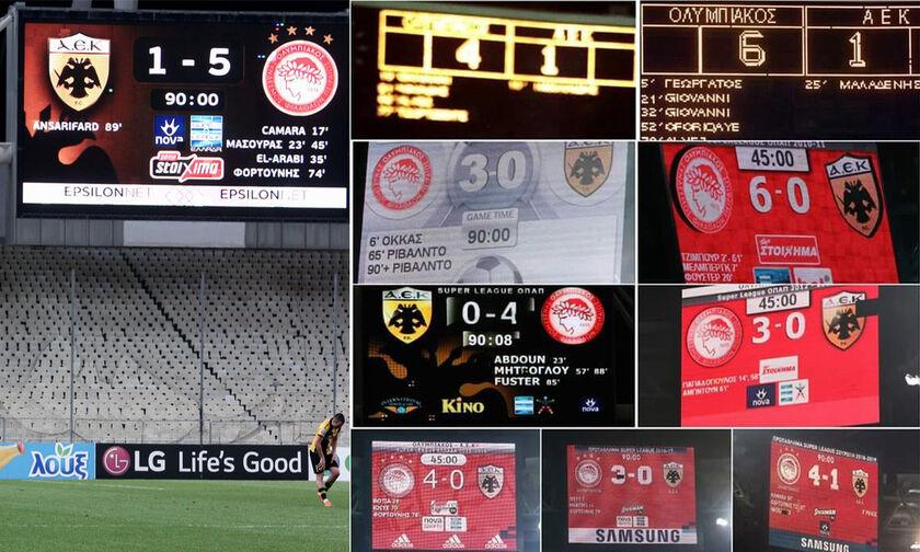 O Ολυμπιακός έχει βάλει 47 γκολ στην ΑΕΚ από το 2010!