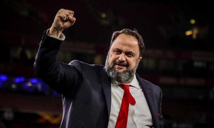Ο Βαγγέλης Μαρινάκης πανηγυρίζει και συγχαίρει: «Συνεχίζουμε δυνατά»