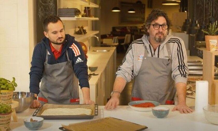 Ο Μaster Chef Τρινκιέρι έστειλε τη Μπάγερν στα προημιτελικά και έφτιαξε ιταλική πίτσα! (vid)