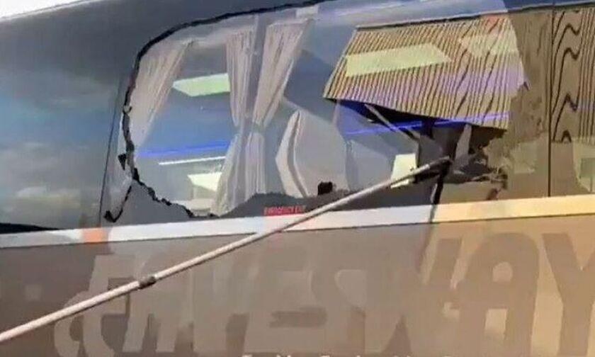 Οπαδοί της Λίβερπουλ έσπασαν τζάμι στο πούλμαν της Ρεάλ (vid)