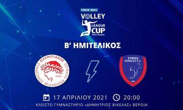 LIVE: Ολυμπιακός - Φοίνικας Σύρου (20:00)