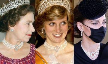Το κολιέ με τέσσερις σειρές πετραδιών και διαμαντένιο κούμπωμα της Κέιτ Μίντλετον έχει ιστορία
