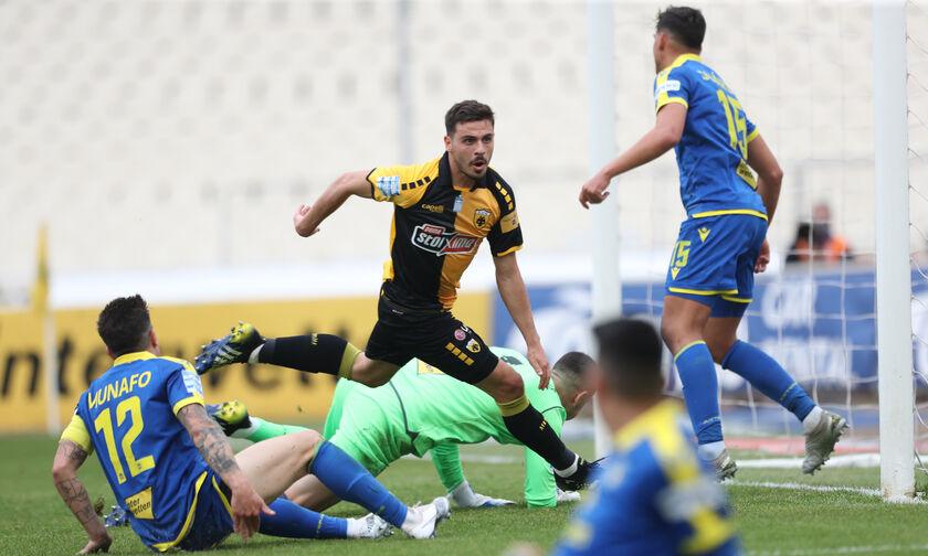 ΑΕΚ - Αστέρας Τρίπολης: Το 1-0 από τον Γαλανόπουλο και η άμεση ισοφάριση του Ριέρα (vids)