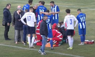 Γ' Εθνική: Παραλίγο τραγωδία στο παιχνίδι ΠΟ Ελασσόνας - ΑΟ Σελλάνων (vid)