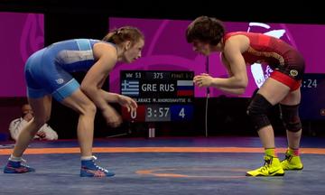 Ευρωπαϊκό Πρωτάθλημα Πάλης: Πήρε το ασημένιο μετάλλιο η Πρεβολαράκη