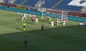Κάλιαρι - Ρόμα 1-0 με γκολ του Λυκογιάννη (vid)
