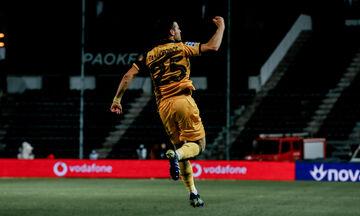 ΠΑΟΚ - ΑΕΚ: Το γκολ του Γαλανόπουλου για το 0-1 (vid)