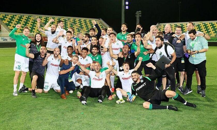 Ομόνοια: Πρωταθλήτρια Κύπρου – Ξέφρενο γλέντι (vids)
