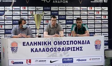 Τι δήλωσαν Αγραβάνης, Παπαπέτρου για τον τελικό του Κυπέλλου Ελλάδας