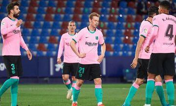 La Liga: «X»αρακίρι (3-3) της Μπαρτσελόνα με Λεβάντε (Ηighlights)