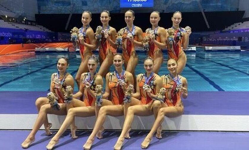 Βουδαπέστη: Αργυρό μετάλλιο η Εθνική στο Kόμπο