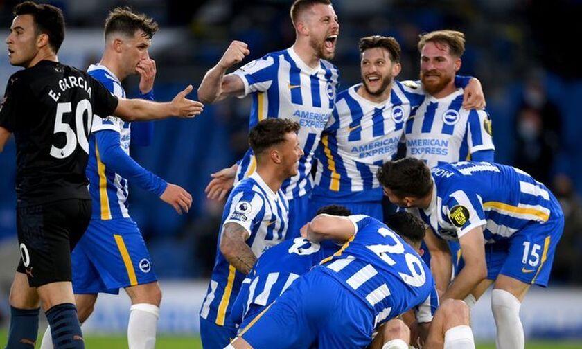 Premier League: «Γλαρόσουπα» κέρασε η Μπράιτον την πρωταθλήτρια Μάντσεστερ Σίτι (highlights)