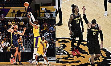NBA: Στα Playoffs οι Λέικερς δια χειρός ΛεΜπρόν, πέρασαν τους Σπερς οι Γκρίζλις (vids)