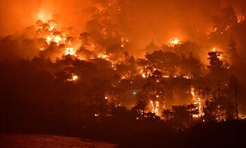 Κορινθία: Απομακρύνονται προληπτικά οι κάτοικοι του Αλεποχωρίου, λόγω της μεγάλης πυρκαγίας