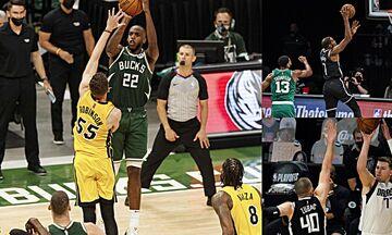 NBA Playoffs: Έκαναν το 1-0 Μπακς, Νετς και Μάβερικς (vids)