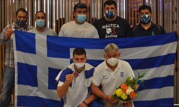 Πάλη: Θερμή υποδοχή στον «χάλκινο» πρωταθλητή Ευρώπης της ελληνορωμαϊκής Μιχάλη Ιωσηφίδη (pics)