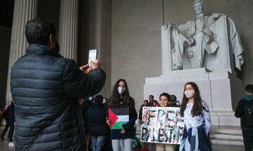 ΗΠΑ: Διαδήλωση υπέρ των Παλαιστινίων στην Ουάσινγκτον