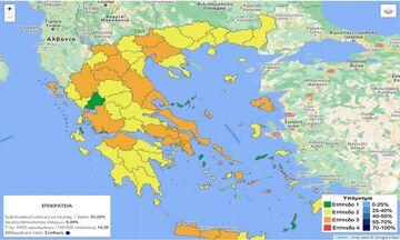 Το... καμπανάκι Χαρδαλιά για Καλαμάτα, Ρόδο, Νάξο, Κατερίνη - Ο νέος επιδημιολογικός χάρτης