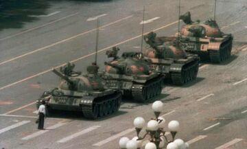 """Τιενανμέν: Εξαφανίστηκε η φωτογραφία του """"Tank man"""" από την Bing"""