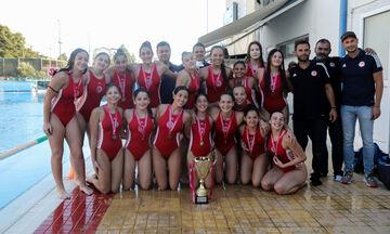 Πρωτάθλημα πόλο κορασίδων: Ο Ολυμπιακός κατέκτησε τον τίτλο, νίκησε τη Βουλιαγμένη 7-3