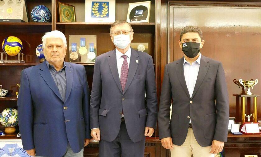 Στην Ελλάδα ο Πρόεδρος της CEV Αλεξάνταρ Μπόρισιτς - Συνάντηση με Αυγενάκη, Καραμπέτσο