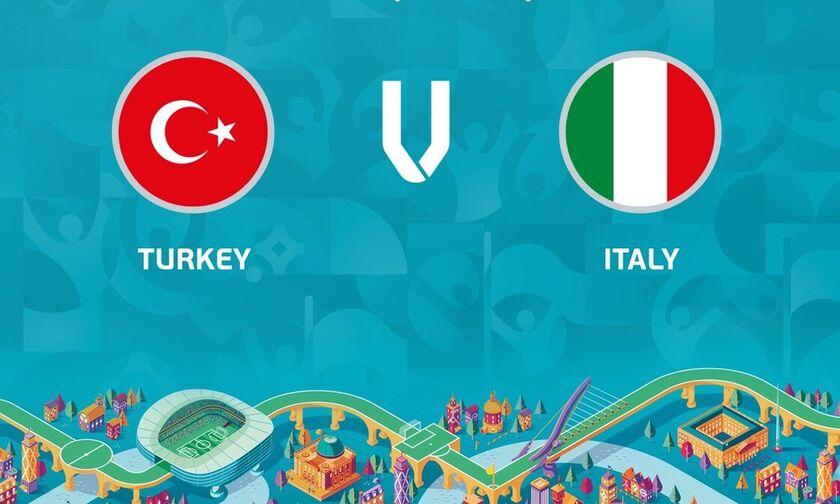 LIVE Streaming: Τουρκία - Ιταλία (22:00)