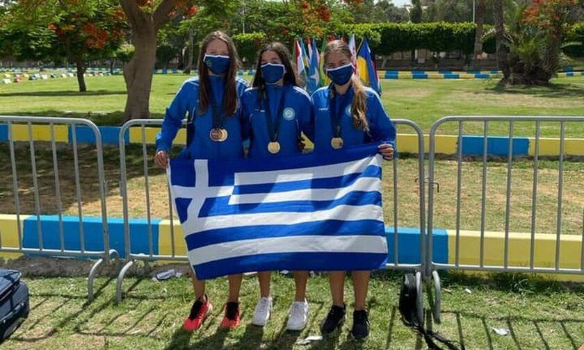 Μοντέρνο Πένταθλο: Χρυσό μετάλλιο στο ομαδικό γυναικών η Ελλάδα στο Παγκόσμιο