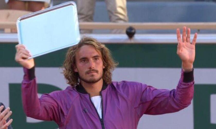 Roland Garros: Aποθέωση του Τσιτσιπά κατά την απονομή του βραβείου του φιναλίστ (vid)!