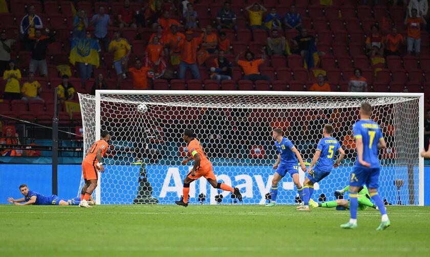Ολλανδία - Ουκρανία 1-0: Προβάδισμα με τον Βαϊνάλντουμ οι «Οράνιε» (vid)