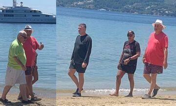 Μελισσανίδης, Κοπελούζος στο beach bar του Μπέου στη Σκιάθο (pics)