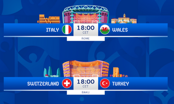 Euro 2020: Το πρόγραμμα των αγώνων της Κυριακής 20 Ιουνίου