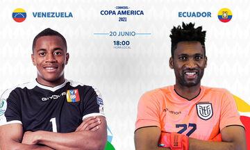 Copa America 2021: Live Streaming: Βενεζουέλα - Εκουαδόρ (00:00)