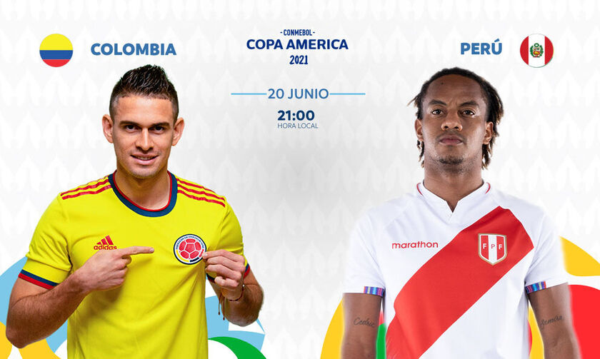 Copa America 2021: Live Streaming: Koλομβία - Περού (03:00)