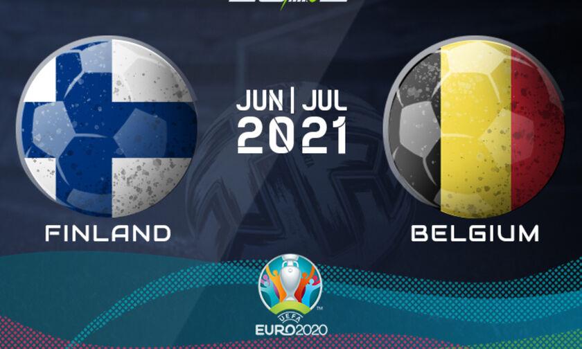Live Streaming: Φινλανδία - Βέλγιο (22:00)