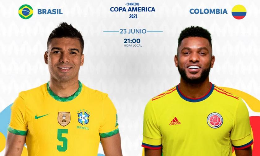 Live Streaming: Βραζιλία - Κολομβία (03:00)