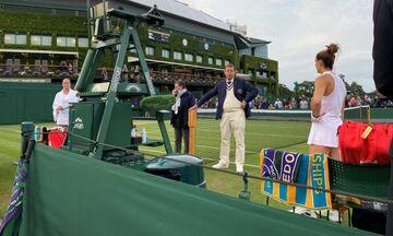 Wimbledon: Διακόπηκε ο αγώνας της Σάκκαρη - Συνεχίζεται αύριο