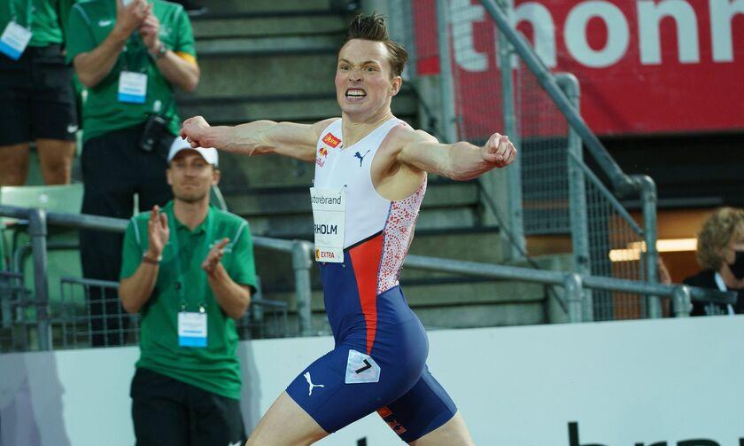 Diamond League: Κατέρριψε παγκόσμιο ρεκόρ στα 400 μ. με εμπόδια ο Βάρχολμ (vid)