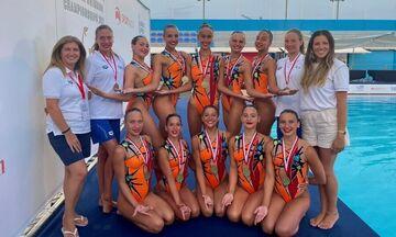 Χάλκινο μετάλλιο η Εθνική Νεανίδων στο Ευρωπαϊκό Πρωτάθλημα Καλλιτεχνικής Κολύμβησης στην Μάλτα!